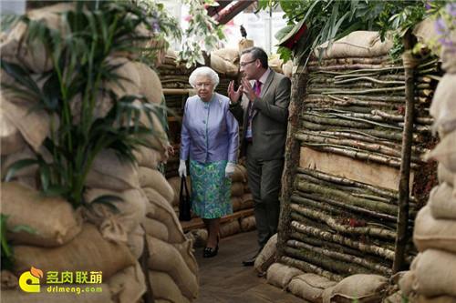 2014切尔西花卉展参展的女王