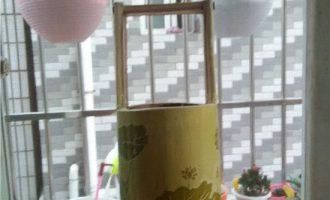 手工雕刻竹筒花盆全过程