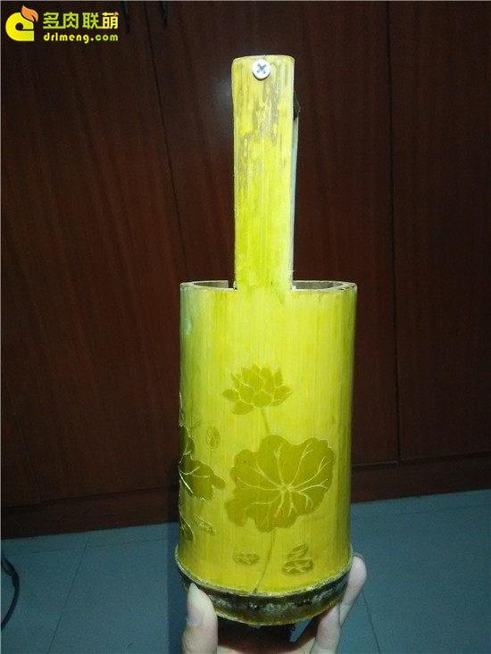 手工雕刻竹筒花盆制作教程-13