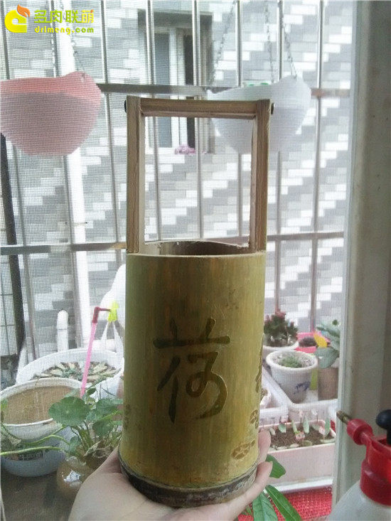 手工雕刻竹筒花盆制作教程-16