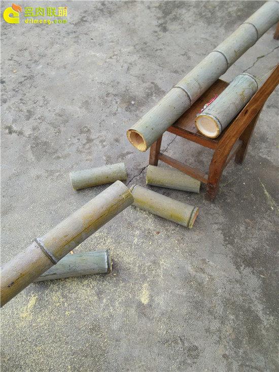 手工雕刻竹筒花盆制作教程-3