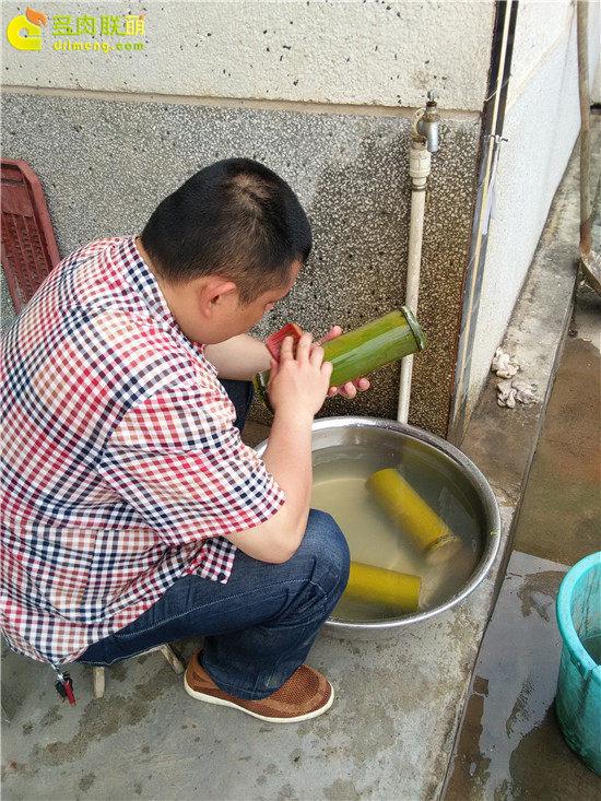 手工雕刻竹筒花盆制作教程-5
