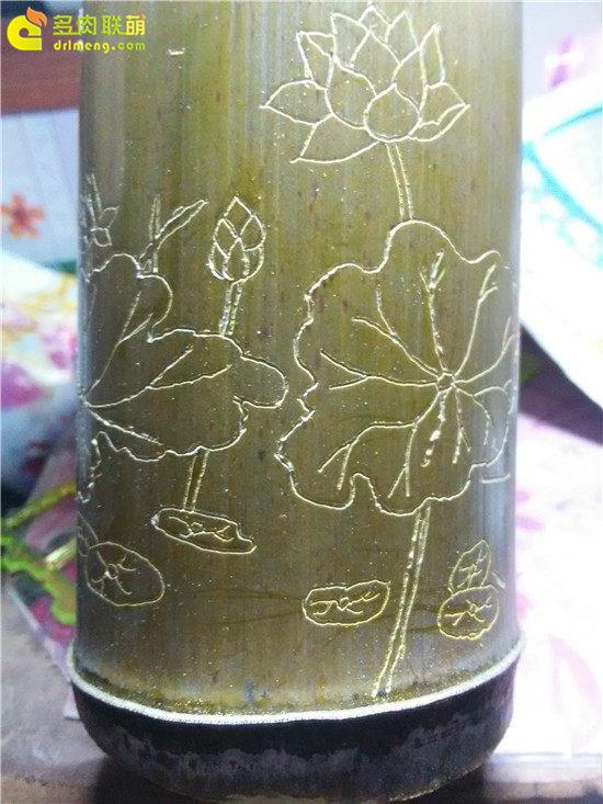 手工雕刻竹筒花盆制作教程-6