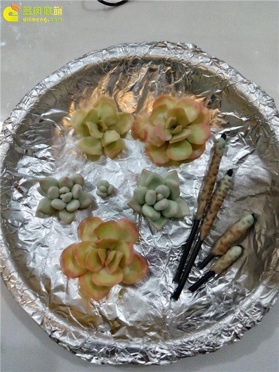 多肉植物软陶制作教程-22