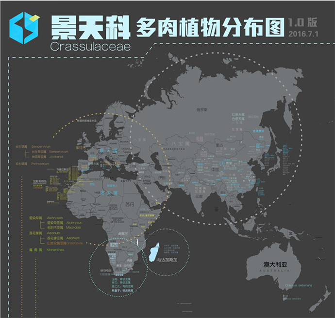 多肉植物世界分布地图-1