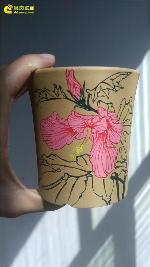 在多肉植物花盆上画画-2