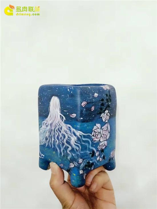 手绘花盆-34