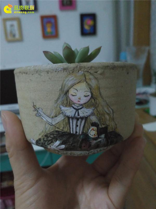 有表情的手绘花盆-5