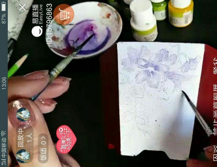 教你怎么手绘多肉花盆