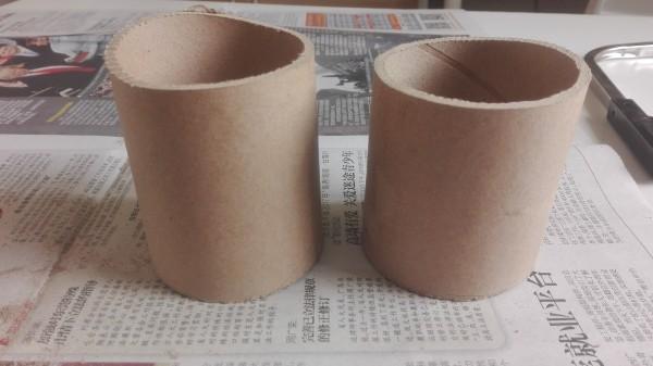 用纸筒做多肉花盆