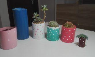 如何用纸筒做花盆?
