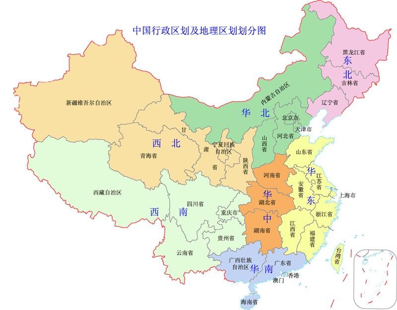 先看下中国地图,度夏难度其实和地理位置有直接关系,相邻省份在气候
