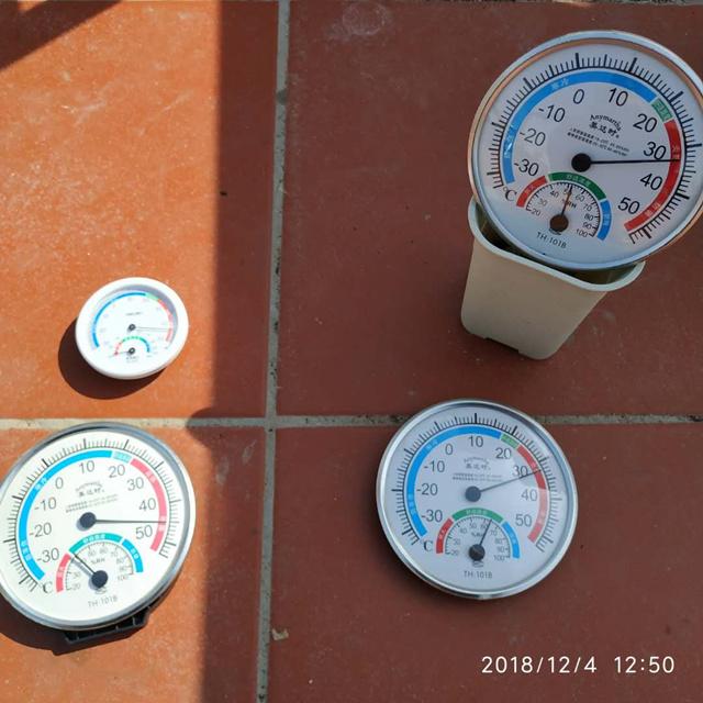 阳光下的气温