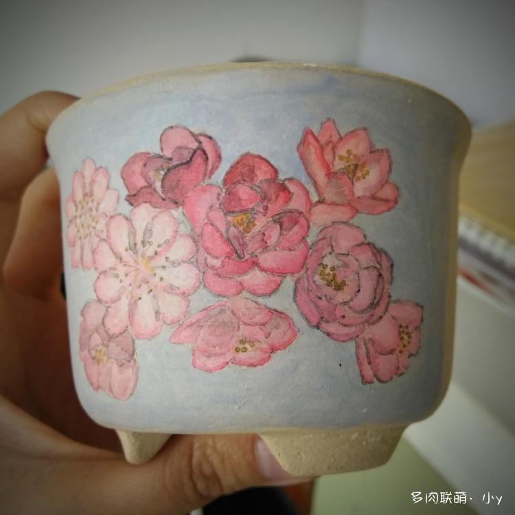 简单的手绘花盆