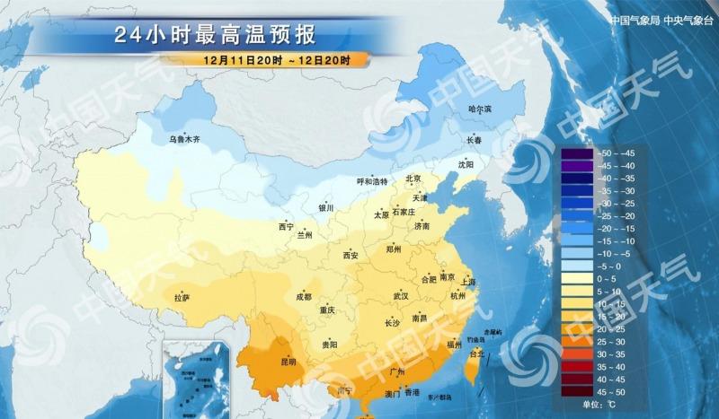12月,全国气温